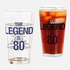 Legend 80th Birthday Drinking Glass