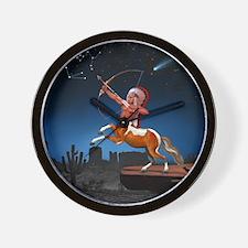 Native American Sagittarius Wall Clock