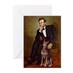 Lincoln's Red Doberman Greeting Cards (Pk of 20)