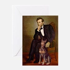 Lincoln's Red Doberman Greeting Card