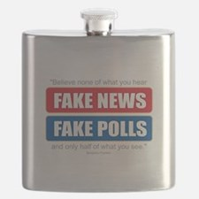 Fake News - Franklin Quote Flask