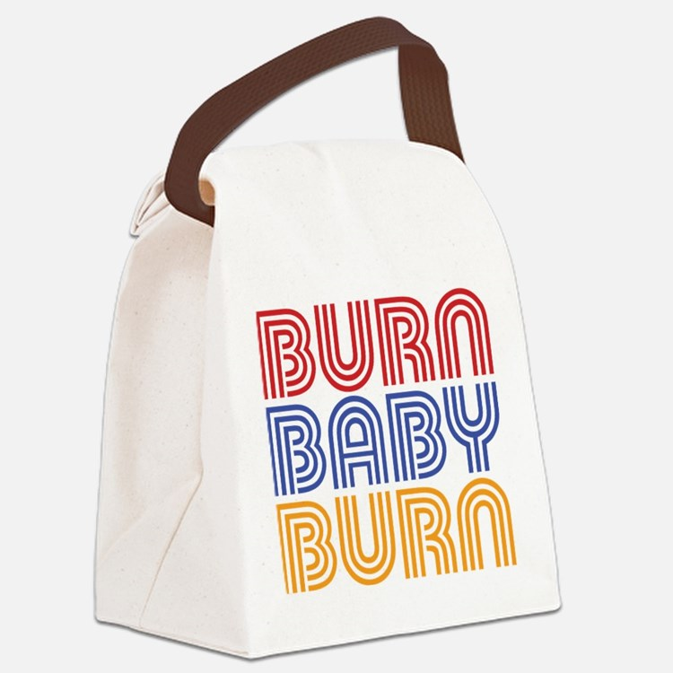 BURN BABY BURN Canvas Lunch Bag