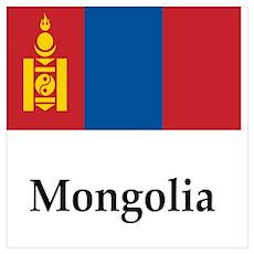 Mongolia Flag Poster