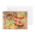Flat Wyoming Greeting Card