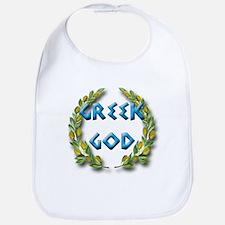 Cute Greek baby shower Bib