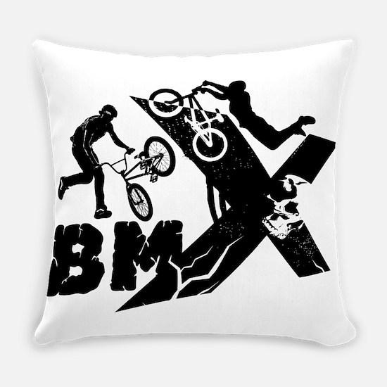 BMX Rider Everyday Pillow