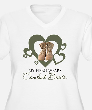 My Hero Wears Combat Boots Plus Size T-Shirt