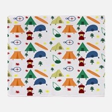 Camping Outdoors Throw Blanket