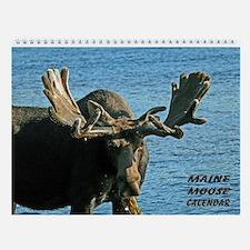Maine Moose Wall Calendar