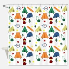 Camping Outdoors Shower Curtain