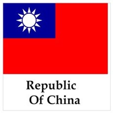 Republic Of China Flag Poster