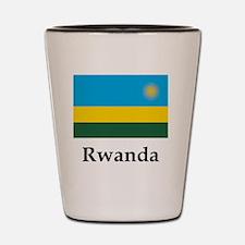 Rwanda Flag Shot Glass