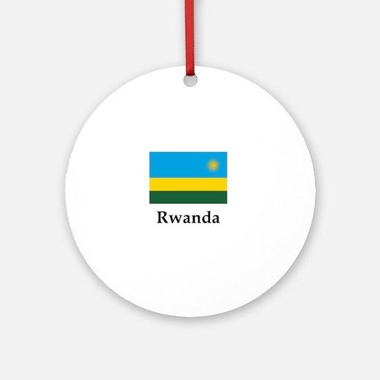 Rwanda Flag Round Ornament