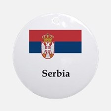 Serbia Flag Round Ornament