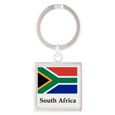 South Africa Flag Square Keychain