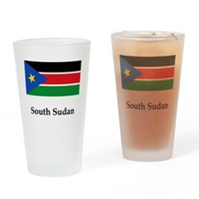 Funny South sudan Drinking Glass