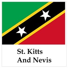 St. Kitts And Nevis Flag Poster