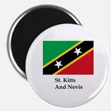 St. Kitts And Nevis Flag Magnet