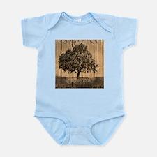 cardboard texture oak tree Body Suit