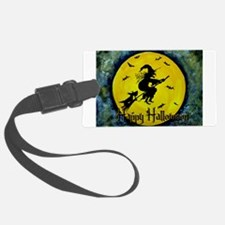 Scottie Witch Broom Luggage Tag