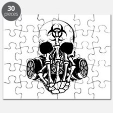 Biohazard Zombie Skull Fuck U Puzzle