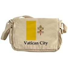 Vatican City Flag Messenger Bag