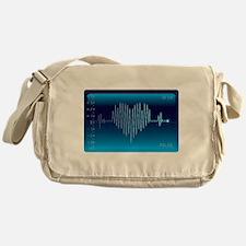 Heart Beat to Heart Beat EKG Messenger Bag
