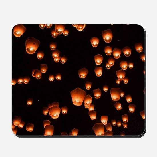 Sky Lanterns Mousepad