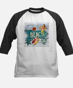 hipster surfer hawaii beach Baseball Jersey