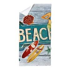 hipster surfer hawaii beach Beach Towel