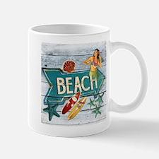 hipster surfer hawaii beach Mugs