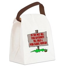 PORK BARREL SPENDING - ON THIS MO Canvas Lunch Bag