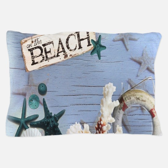 beach coral sea shells Pillow Case