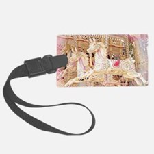 Merry-go-round pink Luggage Tag