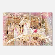 Merry-go-round pink Postcards (Package of 8)