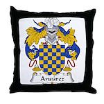 Ansurez Family Crest Throw Pillow