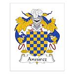 Ansurez Family Crest Small Poster