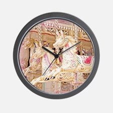 Merry-go-round pink Wall Clock