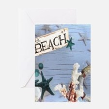 beach coral sea shells Greeting Cards