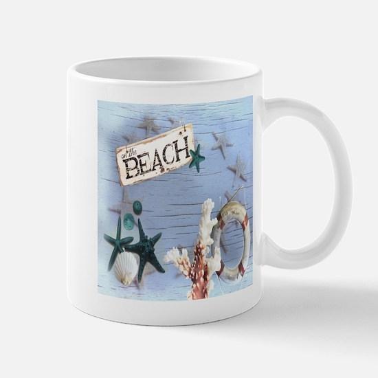 beach coral sea shells Mugs