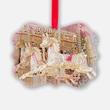 Merry-go-round pink Ornament