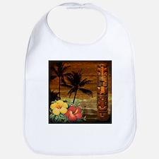 totem Hawaiian Hibiscus Flower Bib