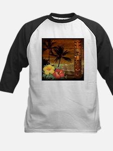 totem Hawaiian Hibiscus Flower Baseball Jersey