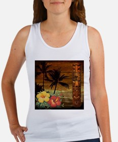 totem Hawaiian Hibiscus Flower Tank Top