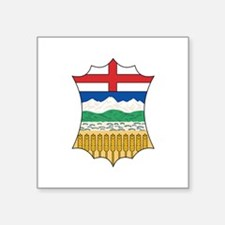 "Cute Alberta flag Square Sticker 3"" x 3"""