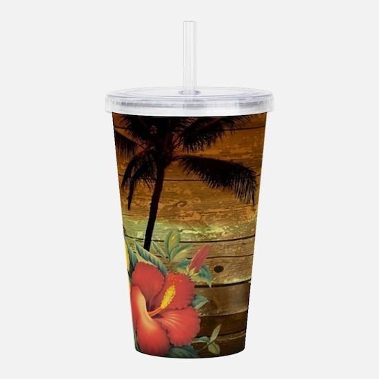 totem Hawaiian Hibiscu Acrylic Double-wall Tumbler