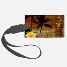 totem Hawaiian Hibiscus Flower Luggage Tag