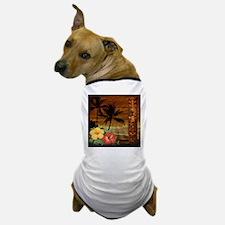 totem Hawaiian Hibiscus Flower Dog T-Shirt