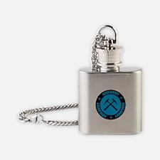 Blue Geologist Emblem Flask Necklace