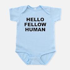 Hello Fellow Human Light Color Infant Body Suit